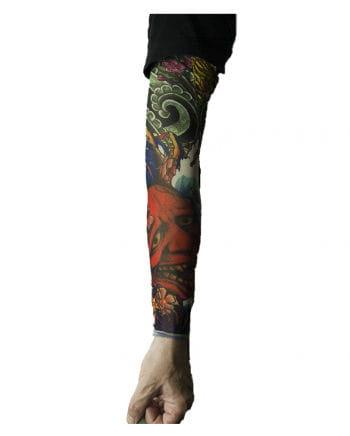 Tattoo Ärmel mit Teufelsgesicht