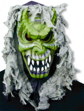 Devil Mask Green with Hood