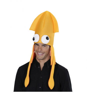 Tintenfisch Mütze orange