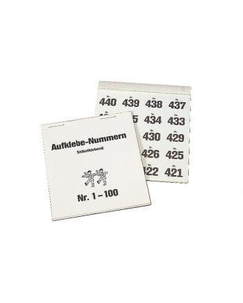 Block mit Aufklebe-Nummern