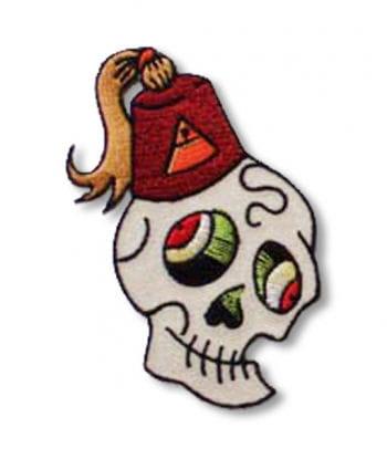 Totenkopf Aufnäher Fezzy Skull rechts