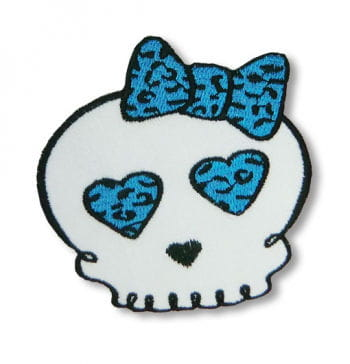 Skull Patches Leopard Blue