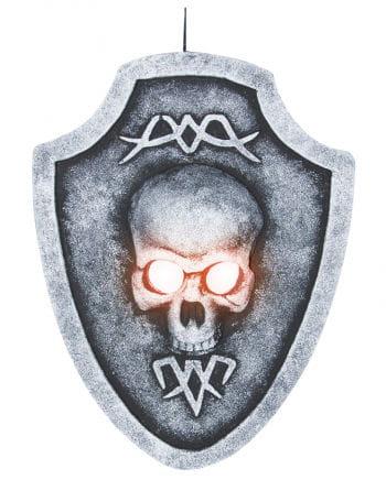 Totenschädel Grabstein mit LED