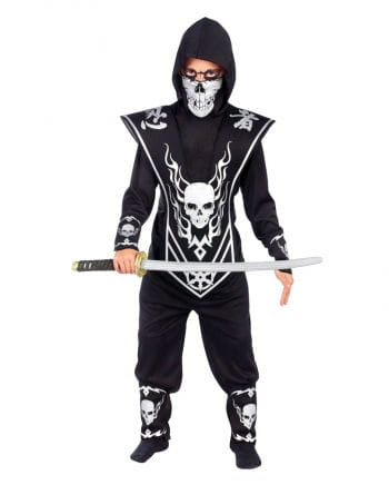 Totenkopf Ninja Kinderkostüm S