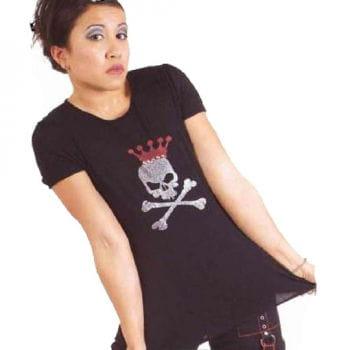 Schwarzes Shirt mit Glitzerprint
