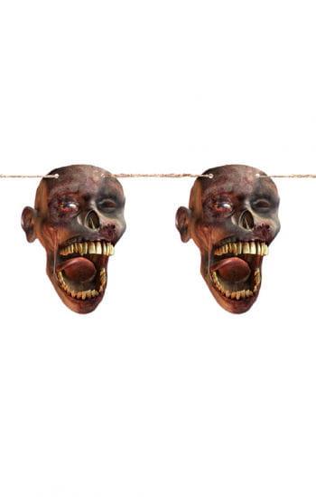 Shrunken Head Pennant Banner