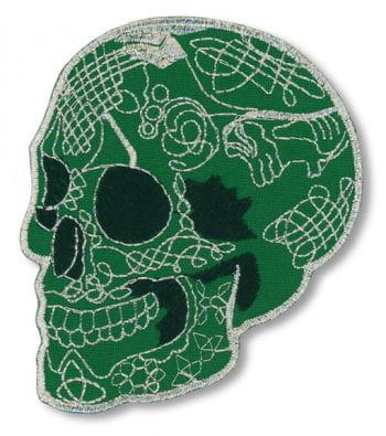 Grüner Totenkopf zum Aufbügeln