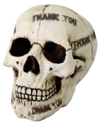 "Totenkopf Spardose ""Thank you"""