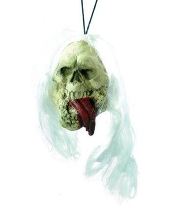 Schrumpfkopf mit hängender Zunge