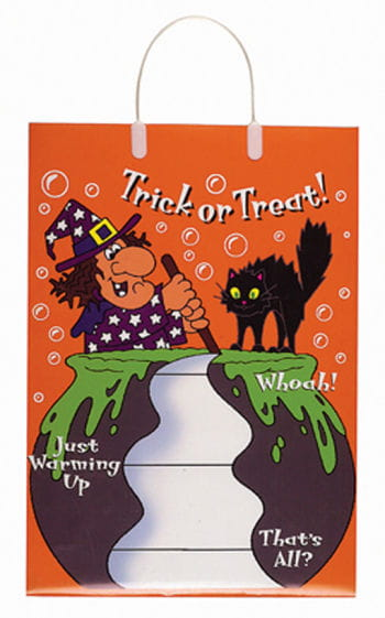 Trick or Treat Bag Witch and cat