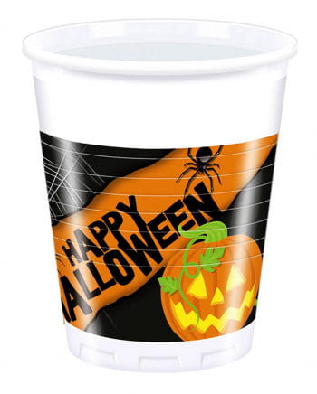 Happy Halloween Plastikbecher 8 St.