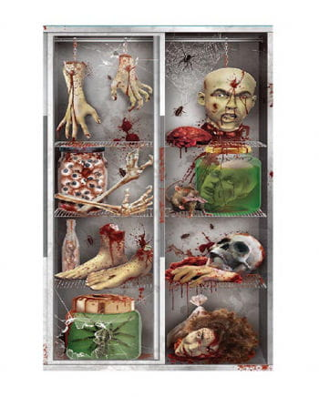 Körperteile im Kühlschrank - Halloween Türfolie