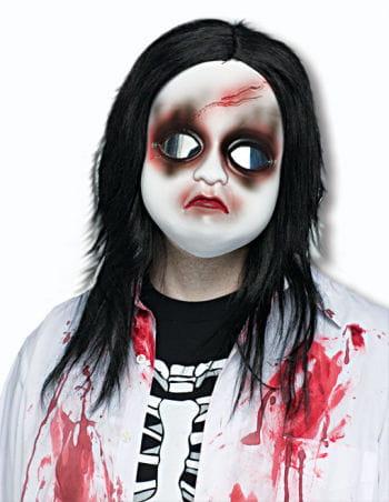 Unheimliche Doll Face Halbmaske