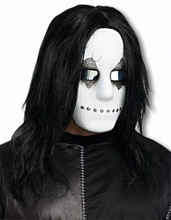 Unheimliche Doll Face Halbmaske Weiss