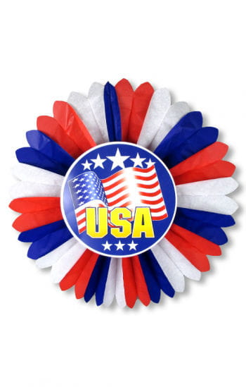 USA rosette with stars and stripes motif