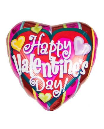 Happy Valentine`s Day Kunterbunter foil balloon