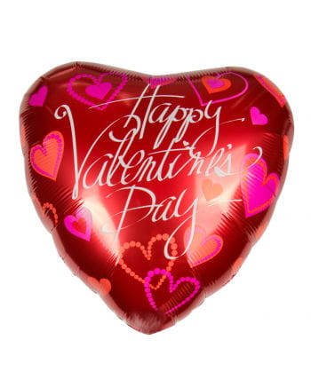 Happy Valentine`s Day with foil balloon Greeting