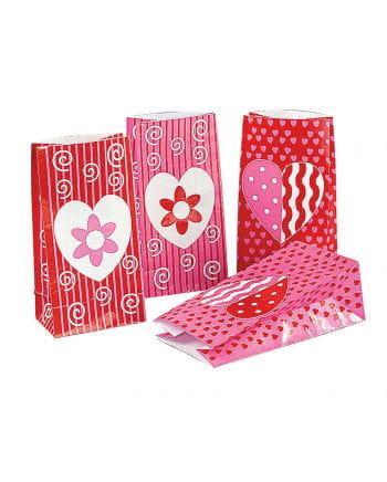 Valentinstag Papiertüten 12 Stück