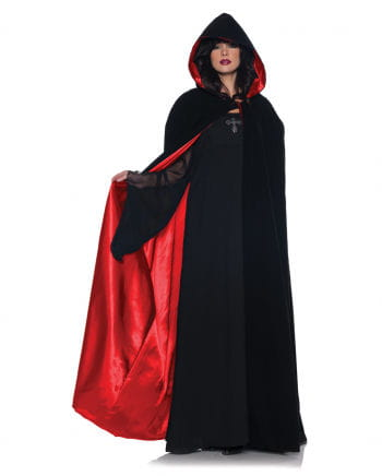 Samt Satin Cape Deluxe rot