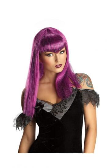 Vampire glitter purple wig