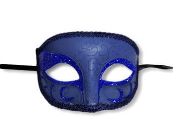 Venezianische Augenmaske blau