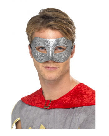 Venezianische Colombina Maske Silber-Metalic
