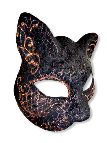 Venetian Cat Mask copper