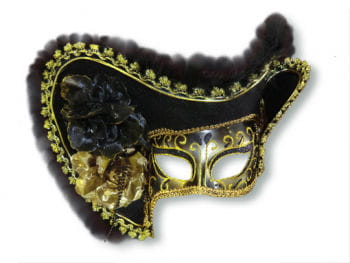 Venetian Lady Pirate Mask Black