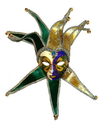 Venetian Mask Jolly Ladies Mask Green/Gold