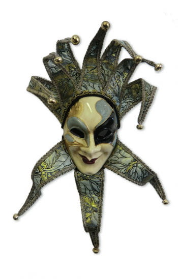 Venetian Mask Joker green / gold