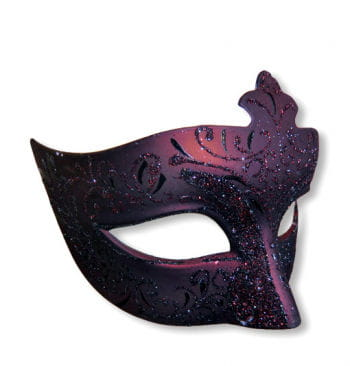 Venezianische Maske schwarz/rot