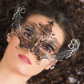 Venetian Metal Mask with Gems