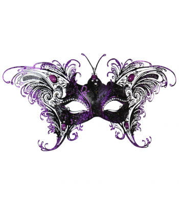Schmetterlingsmaske Schwarz-Violett