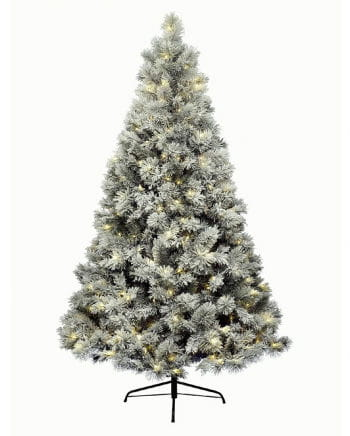 Covered fir tree with fairy lights 180 cm