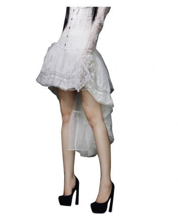 Gothic Burlesque white tulle skirt