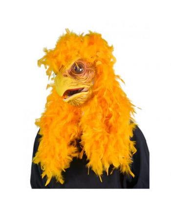 Vogel-Maske mit gelben Federn