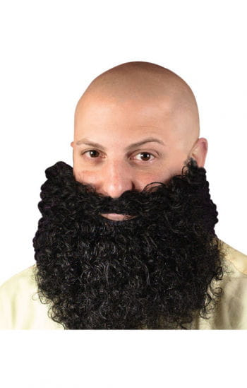 Beard curly black