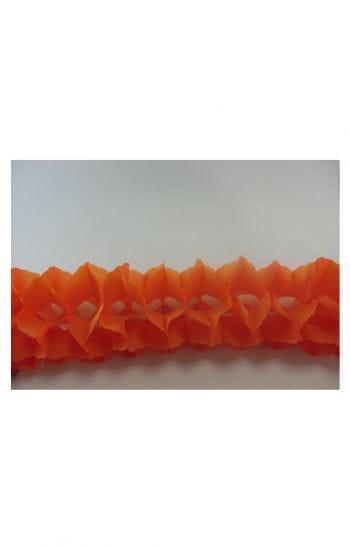 Orangefarbene Girlande orange
