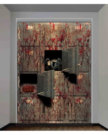 Halloween wall film morgue