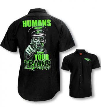 Männerhemd mit Zombieprint