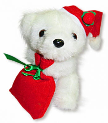 Christmas Bear White