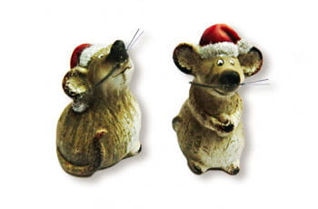 Christmas Mouse with Santa Hat