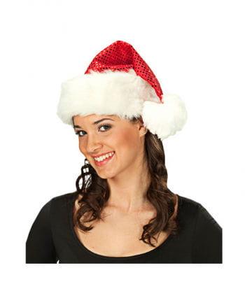 Weihnachtsmütze mit Pailletten