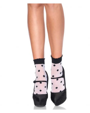Weiße Strümpfe mit schwarzen Polka Dots