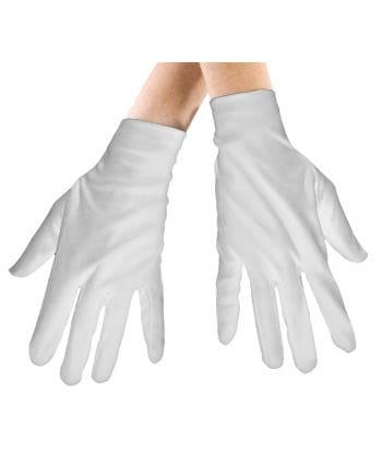 Weiße Stoffhandschuhe