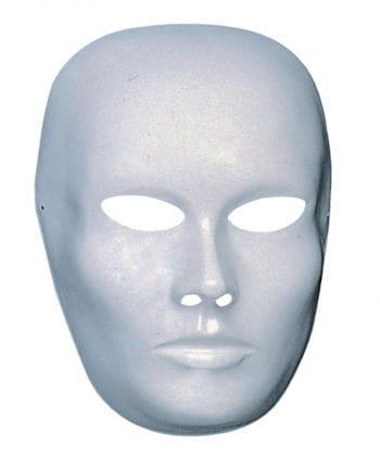 Weiße Gesichtsmaske geschlossener Mund