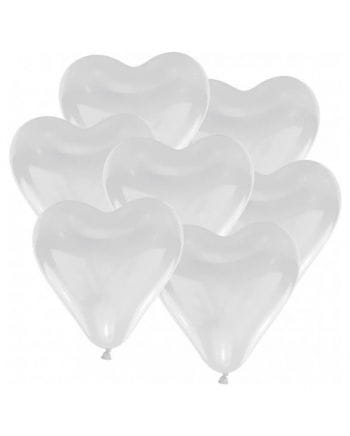 Herz-Luftballons Weiß 10 St.