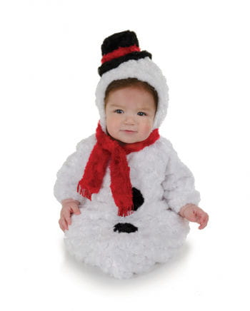 Flauschiger Schneemann Babysack