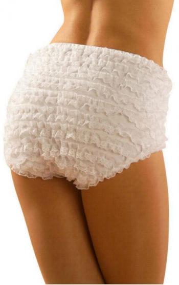 Frilled Panties White