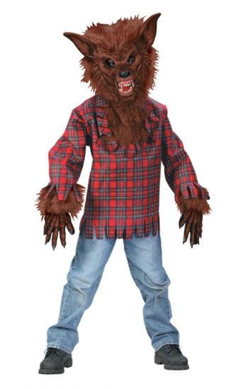 Braunes Werwolf Kostüm für Kinder